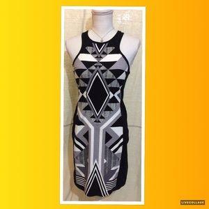 Espress Aztec Body-con Dress